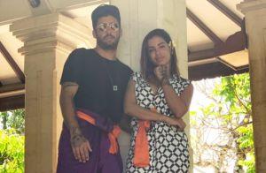 Anitta malha de biquíni e namorado, Pedro Scooby, filma: 'Tô sem vista'