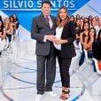 Patricia Abravanel falou para Silvio Santos que, se dependesse dela, viriam mais netos