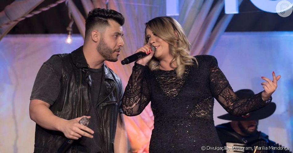 Marilia Mendonça e Murilo Huff se divertem por conversa na internet nesta segunda-feira, dia 10 de junho de 2019, após maratona de shows da cantora