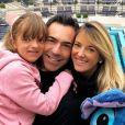 Grávida pela 2ª vez, Ticiane Pinheiro e o marido, Cesar Tralli, curtiram jantar do Dia dos Namorados com a filha da apresentadora, Rafaella Justus