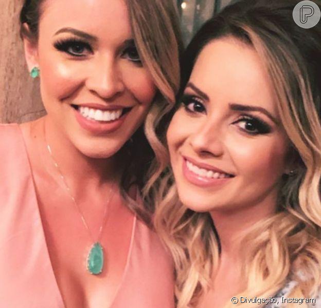 Sandy aposta em vestido azul claro de princesa para casamento da filha de Chitãozinho nesta segunda-feira, dia 17 de junho de 2019