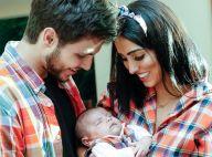 Jade Seba e Bruno Guedes combinam look junino com filho em festa de 1 mês. Fotos