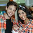 Filho de Jade Seba e Bruno Guedes, Zion usou roupa junina para celebrar seu primeiro mês