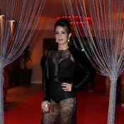 Nanda Costa usa vestido transparente em festa da novela 'Salve Jorge'