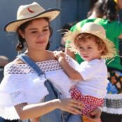 Sophie Charlotte, Dira Paes e Leticia Spiller levam filhos à festa junina no Rio