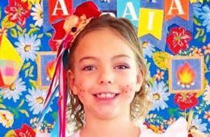 Sheila Mello é comparada à filha, Brenda, de 6 anos, em foto: 'Parecidíssima!'