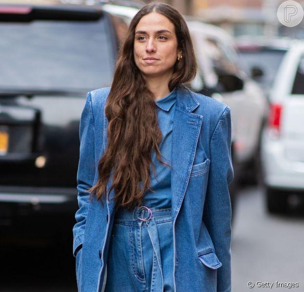 Moda Anos 90 Jeans Com Jeans Blazer Estampa Xadrez E Mais