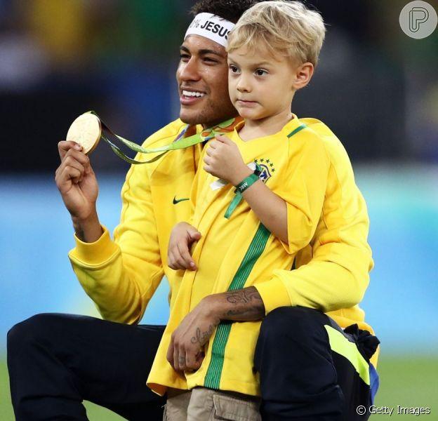 Neymar e filho se divertem em festa de aniversário do amigo do jogador nesta sexta-feira, dia 05 de julho de 2019