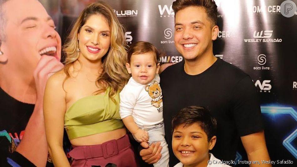 Família de Wesley Safadão prestigia o cantor em show neste sábado, dia 06 de julho de 2019