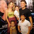 Fãs de Wesley Safadão apontam semelhança entre o cantor os dois filhos show neste sábado, dia 06 de julho de 2019