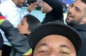 Amigo mostra Neymar vibrando com vitória do Brasil na Copa América: 'Pé quente'