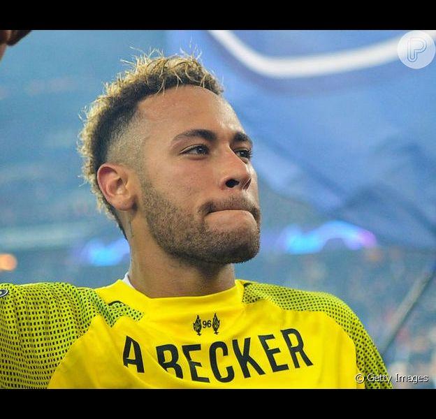 Neymar foi ao Maracanã neste domingo, 7 de julho de 2019, e vibrou com a vitória do Brasil na Copa América