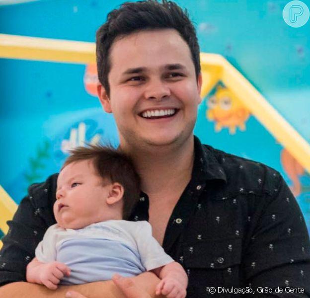 Matheus, da dupla com Kauan, compartilha foto ao lado do filho caçula nesta quarta-feira, dia 10 de julho de 2019