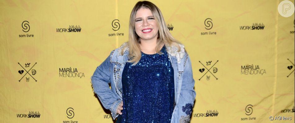 Grávida, Marília Mendonça faz novo show em festa julina
