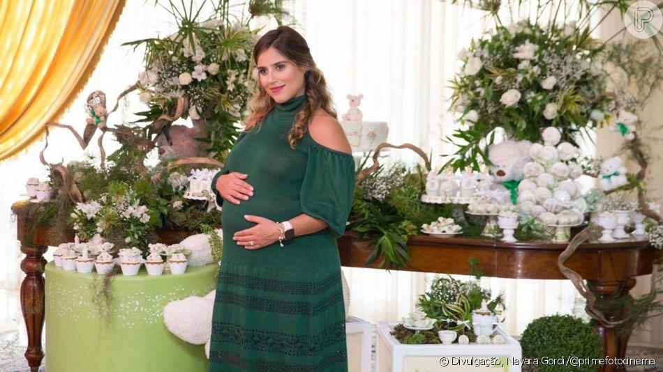 Camilla Camargo deu à luz Joaquim, seu primeiro filho e do marido, Leonardo Lessa, nesta terça-feira, 23 de julho de 2019