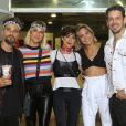 Bruno Gagliasso, Giovanna Ewbank, Fernanda Paes Leme, Carol Sampaio e João Vicente de Castro curtem show juntos