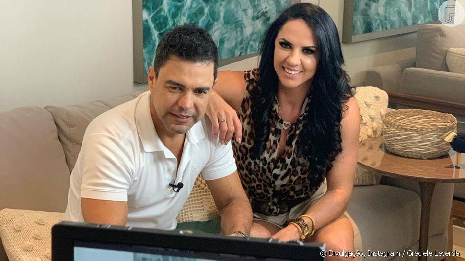 Graciele Lacerda e Zezé Di Camargo malham juntos nesta segunda-feira, 05 de agosto de 2019