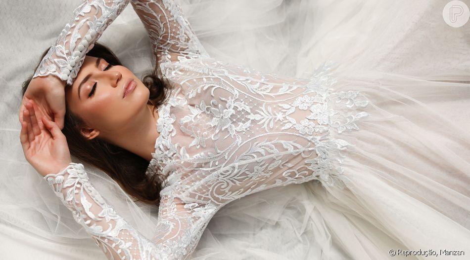 Vestido de noiva para se inspirar: este é da designer mineira Leticia Manzan, que faz looks sob medida