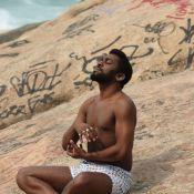 Lázaro Ramos grava a novela 'Geração Brasil' só de cueca samba-canção no Rio