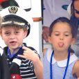 George 'vira' marinheiro e Charlotte faz careta em regata com Kate e William