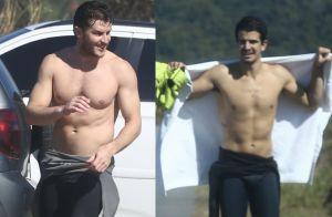 Que dupla! Klebber Toledo e Enzo Celulari surfam juntos em praia do Rio. Fotos
