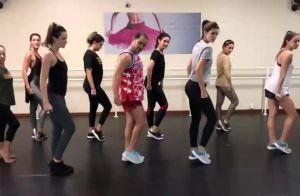 Fátima Bernardes participa de aula e dança música de Anitta com atrizes. Vídeo!