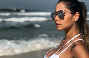 Mayra Cardi exibe cintura fina em foto de lingerie e impressiona famosas. Veja!