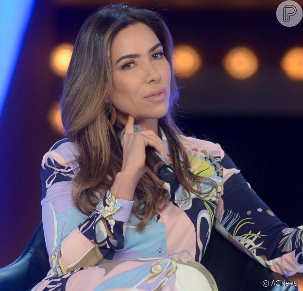 Patricia Abravanel esclareceu declaração que deu no quadro 'Jogo dos Pontinhos', do 'Programa Silvio Santos', nesta terça-feira, 3 de setembro de 2019
