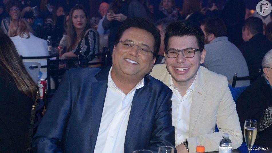 Filho do apresentador Geraldo Luís chamou atenção dos fãs por semelhança com dono do SBT: 'A cara do Silvio Santos'