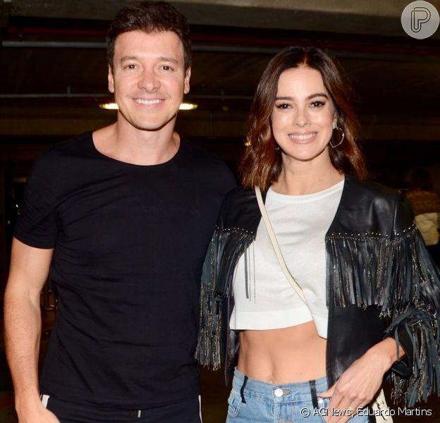 Vera Viel e Rodrigo Faro curtiram o show 'Amigos' neste sábado 7 de setembro de 2019, em SP
