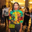 Irmã de Preta Gil, a empresária Marina Moreno conferiu a estreia do espetáculo de stand up em São Paulo, na noite desta quarta-feira, 11 de setembro de 2019