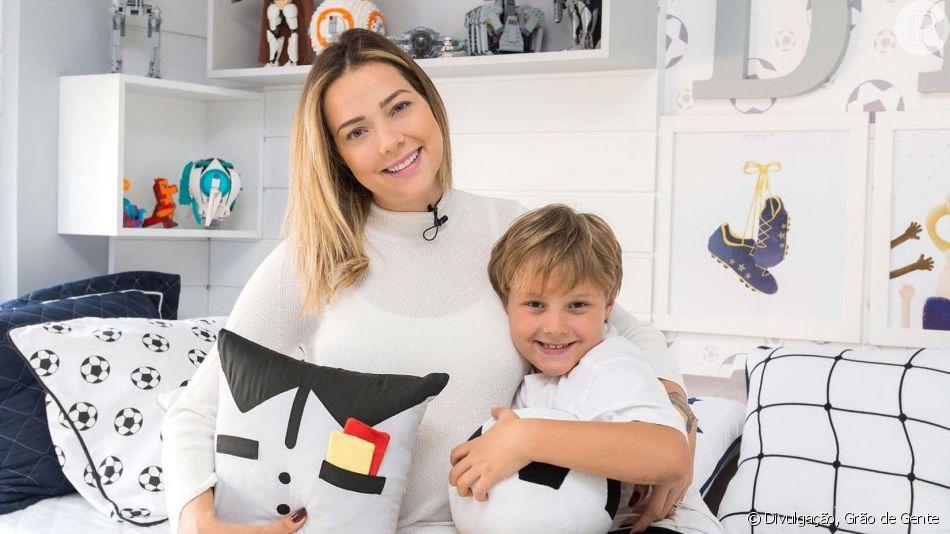Filho de Neymar e Carol Dantas, Davi Lucca, de 8 anos, apareceu com o irmãozinho, Valentin, nascido neste sábado, 14 de setembro de 2019