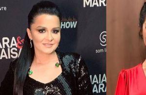 Maraisa e Thais Fersoza usam o mesmo look em programas diferentes. Vídeo!