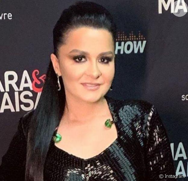 Maraisa, da dupla com Maiara, usou o mesmo vestido que Thais Fersoza em gravação do programa 'SóTocaTop' nesta segunda-feira, 16 de setembro de 2019