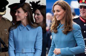 Kate Middleton veste look azul pela 4ª vez; primeiro uso foi há 5 anos. Fotos!