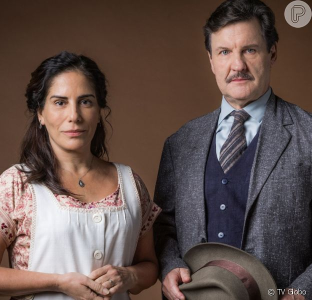Lola (Gloria Pires) é agredida por Júlio (Antonio Calloni) na novela 'Éramos Seis'