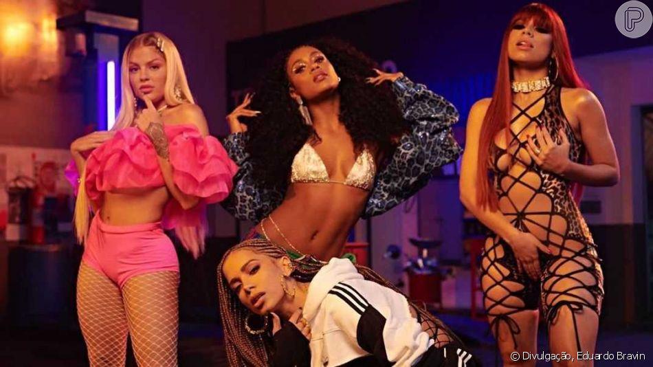 Anitta grava clipe com Lexa, Luísa Sonza e MC Rebecca em aquecimento da festa ' Combatchy'