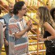 Mario (Lucio Mauro Filho) fica decepcionado ao saber que Silvana (Ingrid Guimarães) mentiu para ele na novela 'Bom Sucesso'
