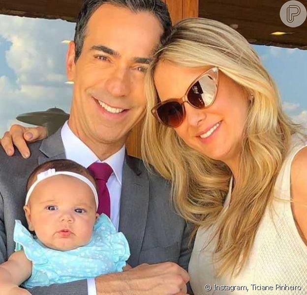 Ticiane Pinheiro viaja em família para comemorar três meses de vida da filha, caçula, Manuella