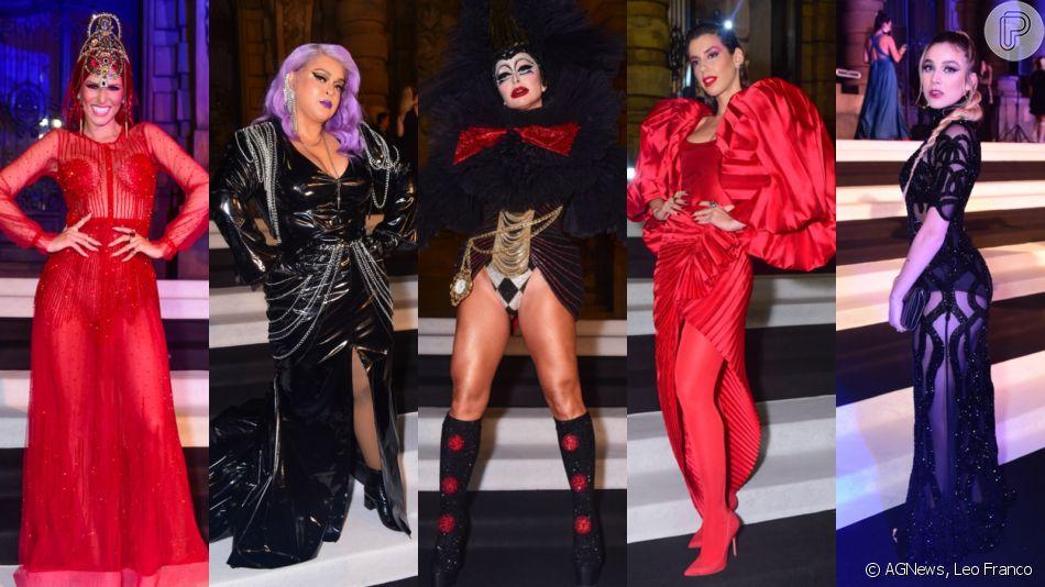 Sabrina Sato, Lívia Andrade, Preta Gil, Bruna Santana e mais famosas apostam em fantasias glam para festa de Halloween nesta quinta-feira, dia 17 de outubro de 2019