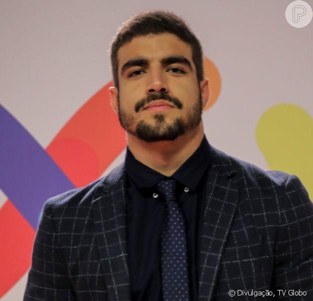 Caio Castro negou romance com Grazi Massafera nesta quarta-feira, 23 de outubro de 2019