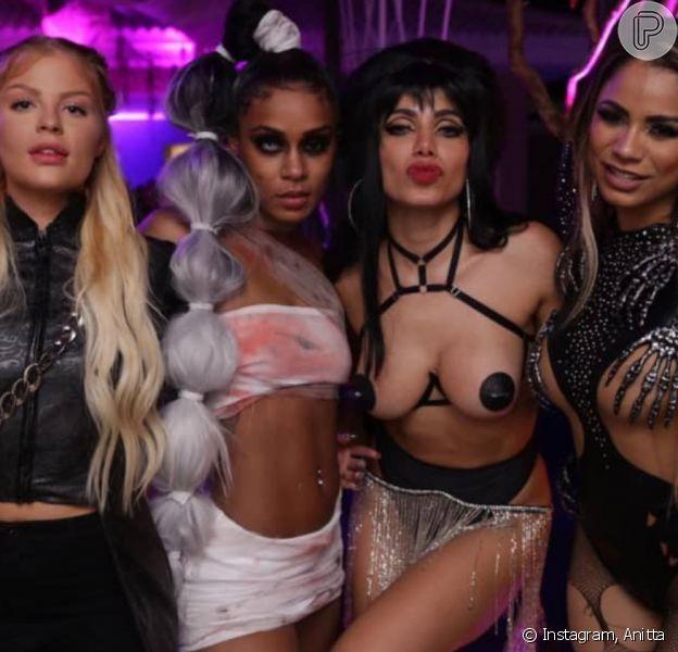 Anitta reúne Luísa Sonza, Lexa, MC Rebecca e mais famosos em sua festa de Halloween