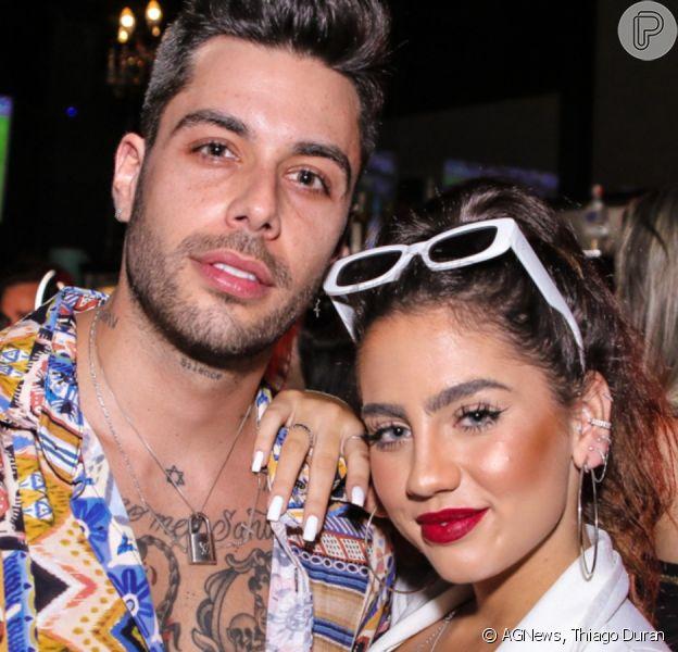 Gui Araujo e Catherine Bascoy posam juntos em festa de reencontro do 'De Férias com o Ex Celebs' neste domingo, dia 03 de novembro de 2019