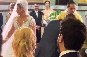 Zé Neto e mulher descobrem sexo do 2º filho em festa de casamento: 'Angelina'