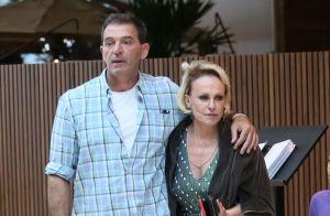 Ana Maria Braga e novo namorado francês são fotografados em shopping do Rio