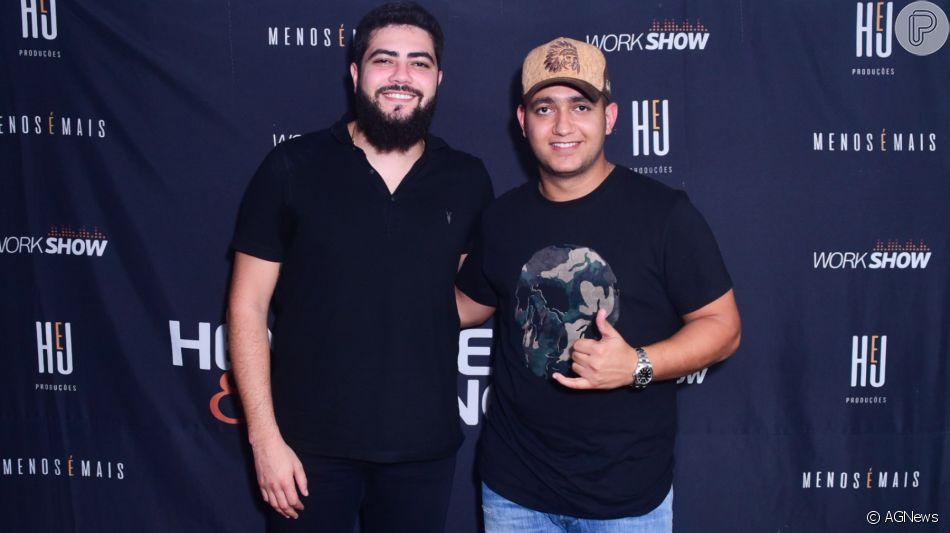 Henrique e Juliano dedicaram show a Cristiano Araújo no Caldas Country neste sábado, 16 de novembro de 2019