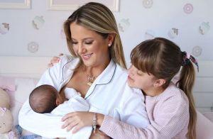 Família fashion: Tici Pinheiro combina look com filhas, Manu e Rafa: 'Princesas'