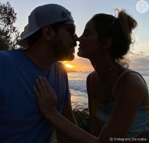 Sorocaba, da dupla com Fernando, publicou foto com a namorada no Instagram nesta terça-feira, 26 de novembro de 2019