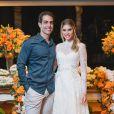 Bárbara Evans e Gustavo Theodoro realizaram uma festa de noivado no sábado, 14 de dezembro de 2019