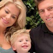 Marido de Karina Bacchi se emociona ao saber que Enrico será seu filho. Vídeo!